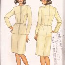 Butterick 3415 (1985) Fitting Shell Jewel Neckline Straight Skirt Long Sleeves Pattern Size 12 CUT