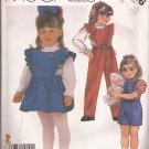 McCalls 2166 (1985) Toddler Child Girls Jumpsuit Jumper Blouse Top Pattern Size 1 2 3 PART CUT