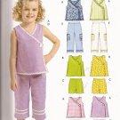 McCalls 5371 (2007) Toddler Child Girls Wrap Top Shorts Capri Pants Pattern Size 1 2 3 PART CUT