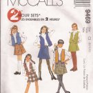McCalls 9469 (1998) Childs Girls Pull-on Skirt Variations Lined Vest Pattern Size 8 10 12 UNCUT