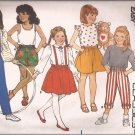 Butterick 3358 (1985) Childs Toddlers Skirt Culottes Pants Shorts Pattern Size 1 2 3 PART CUT