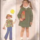 Simplicity 8178 (1977) Childs Girls Dress Top Yoke Elastic Waist Pants Pattern Size 6 PART CUT