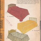 McCalls 8686 (1967) Coverlet Bedspread Pillow Sham Dust Ruffle Bolster Pattern