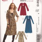 McCalls 5910 (2009) Pullover A-Line Dress Fitted Camisole Pattern Size 8 10 12 14 16 PART CUT