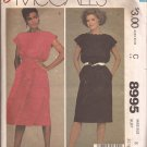 McCalls 8995 (1984) Scallop Neck Armholes Elastic Waist Straight Full Skirt Pattern Size 8 CUT