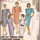 McCalls 4111 (1989) Dress Tunic Top Skirt Pleated Sleeves Bodice Pattern Size 12 CUT