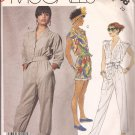 McCalls 3068 (1987) Long Short Button Front Pleats Elastic Waist Pockets Belt Pattern Size 10 CUT