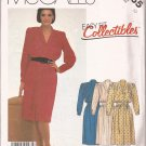 McCalls 2165 (1985) Pullover Dress Pleats Elastic Waist Mock Pleat Skirt Pattern Size 10 CUT