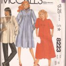 McCalls 8223 (1982) Maternity Pullover Dress Top Front Back Tucks Pants Pattern Size 10 PART CUT