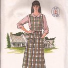 Butterick 3666 (1986) Jumper Patch Pockets Side Buttons Short Long Sleeve Blouse Pattern Size 6 8 10