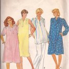 Butterick 4304 Maternity Dress Tunic Front Tucks Collar Sleeve Variation Pattern Size 10 CUT