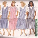 Butterick 3518 (1989) Pullover Drop Waist Maternity Dress Jumper Top Pattern Size 6 8 10 12 CUT
