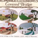 "1983 Covered Bridges Four Seasons Applique Hoop Placemat 12"" x 20"" Pattern"