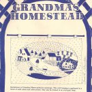 "Grandmas Homestead Wall Hanging Applique Quilt Hoop 27"" x 36"" Pattern"