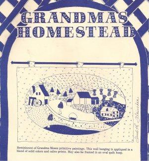 "Grandmas Homestead Wall Hanging Applique Quilt Hoop 27"" x 36"" Pattern"