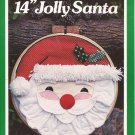 "14"" Round Jolly Santa Hoop Applique (1980) Pattern 3929 Instructions"