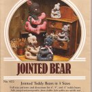 "882 Creative Needle Arts Country Charm  6"" 9"" 11"" Jointed Teddy Bear Doll Pattern Stencil (1983)"