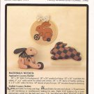P-23 Applique Hoop Stuffed Jointed Patchwork Pillow Country Rabbit 1982 Patchwork Place