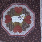 "Country Lamb Pillow Wall Hanging Quilt Look Panel Fabric Set of 2 16""W x 17L"""