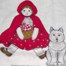 Little Red Riding Hood Screen Print Doll with Basket Stuff 16-18""