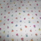 "Baby Wale Corduroy Off White Background Pink Blue Yellow Orange Purple Flowers Fabric 44""w"