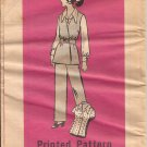 Vintage Marian Martin Printed Blouse Vest Pull-on Pants Pattern Size 18 CUT