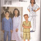 Butterick 3644 (2002) Boys Girls Childs Nightgown Top Shorts Pants Pattern Size 12 14 16 UNCUT