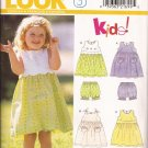 New Look 6767 Childs Girls Dress Pantaloons Bloomers Pattern Sizes 1/2 1  2 CUT to 2