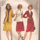 Simplicity 9904 (1972) Vintage Unlined Jacket Sleeveless Blouse Skirt Pattern Size 18 CUT