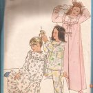 Simplicity 8697 (1978) Vintage Girls Nightgown Pajamas Robe Pattern Size 7 8 CUT to 8