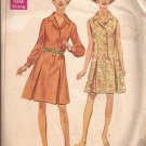 Simplicity 8003 (1968) Vintage Princess Shirtdress Inverted Pleats Pattern Size 14 CUT