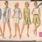 Simplicity 7548 (1968) Vintage Jacket Skirt Split Inverted Pleats Shorts Blouse Pattern Size14 CUT