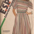 Simplicity 6400 (1983) Vintage Dress Skirt Band Button Cuff Adj Petite Pattern Size 8 10 12 Cut