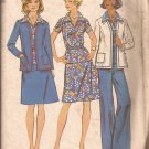 Simplicity 6167 (1973)  Vintage Princess Seam Jacket Patch Pockets Pants Pattern Size 12 CUT