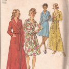 Simplicity 5989 (1973) Vintage Classing Wrap Tie Robe Patch Pocket Pattern Size 12 - 14 Medium CUT