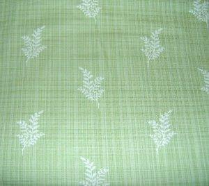 "Cotton Martha Stewart Living Green Plaid White Fern Home Decor Fabric 58"" W x 2yds 10""L"