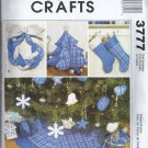 McCalls 3777 (2002) Christmas Tree Skirt Wreath Stocking Ornaments Pattern UNCUT