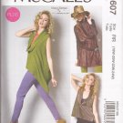 McCalls 6607 (2012) Low Cowl Neck Top Tunic Pattern Plus Size 18W 20W 22W 24W UNCUT