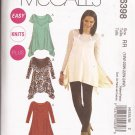McCalls 6398 (2011) Pullover Tunic Top Shaped Hem Plus Size Pattern 18W 20W 22W 24W UNCUT