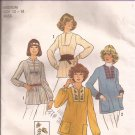 Simplicity 7627 (1976) Vintage Pullover Top Pattern Inset Sleeve Neck Variations 12 14 Medium UNCUT