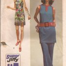 Simplicity 9410 (1971) Vintage Super Jiffy Mini Dress Tunic Pants Pattern Size 8 UNCUT