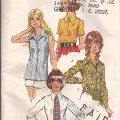 Simplicity 5022 (1972) Vintage Classic Button Front Shirt Top Blouse Tie Pattern Size 12 UNCUT