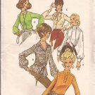Butterick 5871 Vintage Classic Blouse Shirt Top Neckline Variations Pattern Size 10 UNCUT