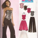 New Look 6480 (2005) Junior Teen Skirt Pants Bustiere Pattern 3/4 5/6 7/8 9/10 11/12 13/14 UNCUT