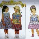 Butterick 3916 (1995) Girls Childs Tier Ruffle Dress Ponytail Tie Pattern Size 2 3 4 UNCUT