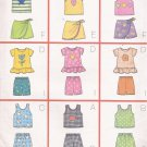 Butterick 5497 (1998) Childs Girls Nine Sew Easy Top Skort Shorts Pattern Size 2 3 4 5 UNCUT