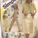 Simplicity 5384 (1981) Skirt Straight Leg Pants Blouse Top Lined Jacket Pattern Size 16 CUT