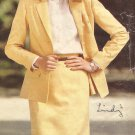 Butterick 3020 Loose Unlined Jacket Side Slit Skirt Pattern Size12 14 16 CUT