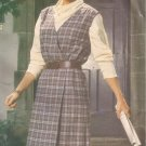 Butterick 5211 Wrap Jumper Gathered Shoulders Inside Tie Dress Pattern Size 14 16 18 CUT