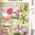 McCalls 6095 (2010) Sewing Machine Cover Apron Pincushion Button Doll Pattern PART CUT